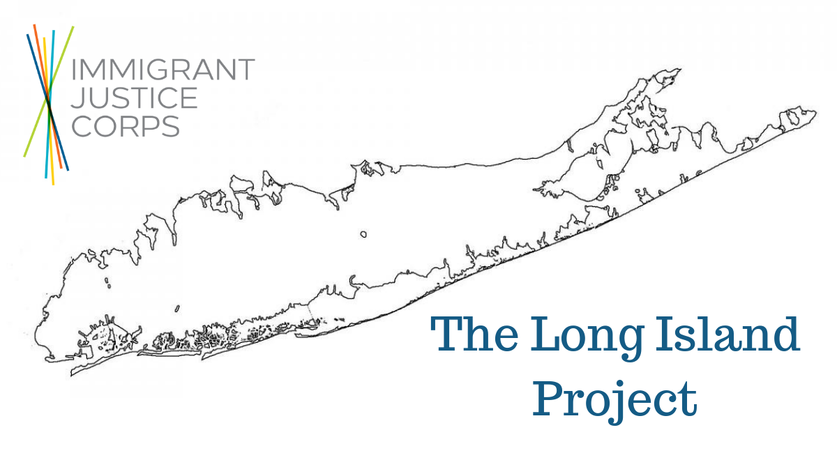 Immigrant Justice Corps and the Long Island Project logo