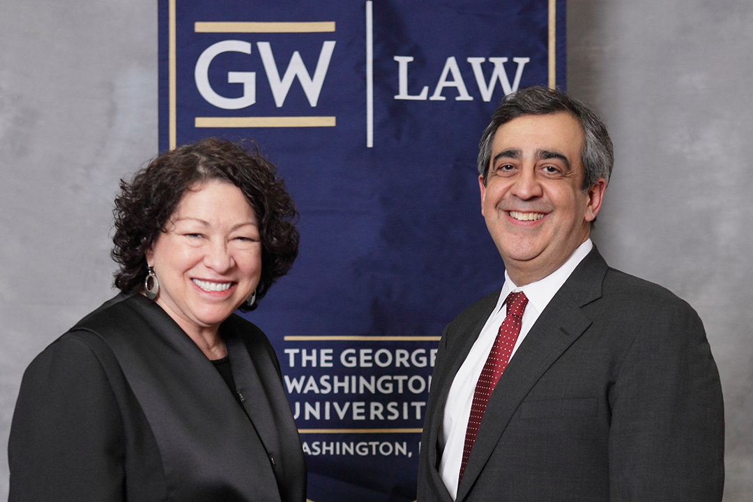 Justice Sotomayor and Dean Johnson
