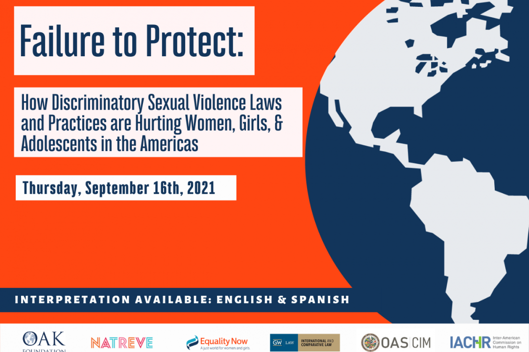 Flyer: How Discriminatory Sexual Violence Laws and Practices are Hurting Women, Girls & Adolescents in the Americas