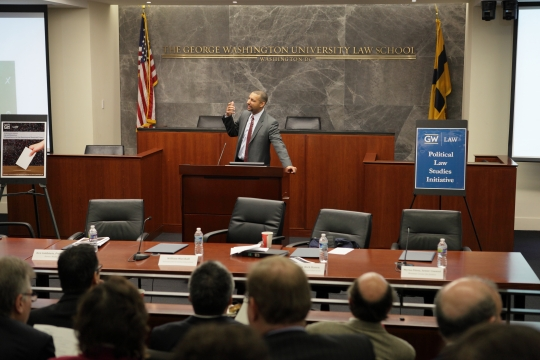 Professor Spencer Overton hosts an event for the Political Law Studies Initiative