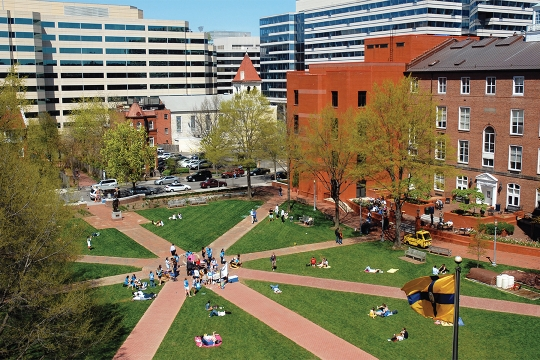 George Washington University  >> Campus Map Facilities And Directions Gw Law The George