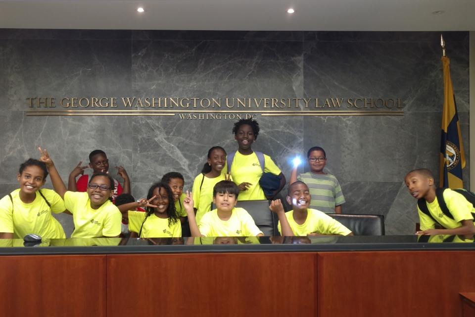 Middle School Students at GW Law