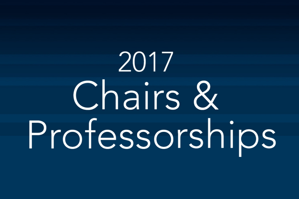 2017 Chairs & Professorships