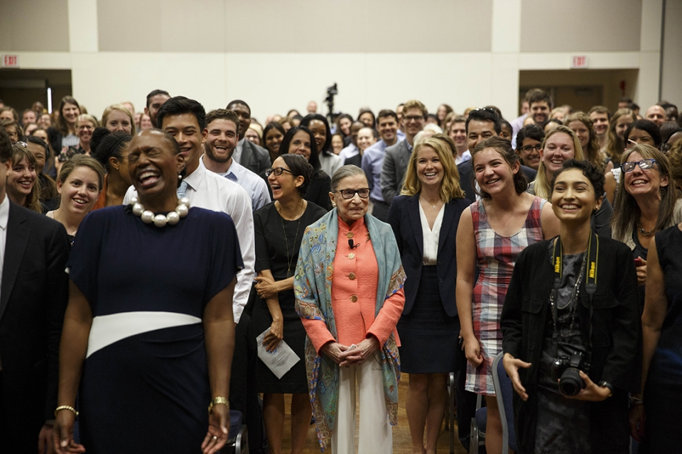 RBG Visits with Students