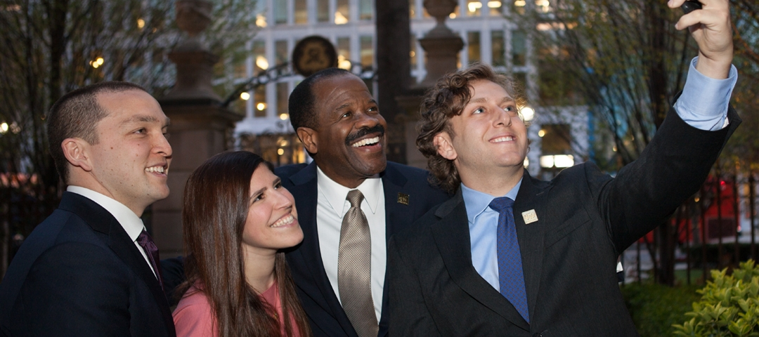 Students and Dean Morant
