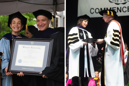 Professor Rosen and Associate Dean Schenck Receive Honorary Degrees