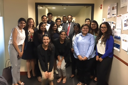 Judge Jasti Chelameswar with GW Law students