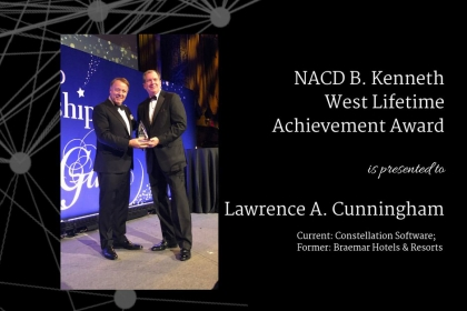 Lawrence Cunningham Accepting Award