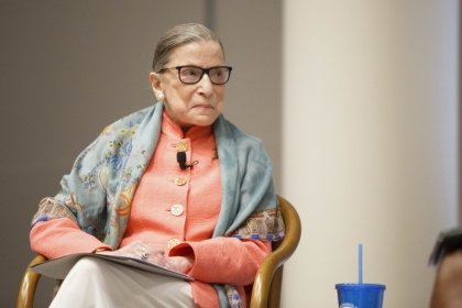 Ruth Bader Ginsburg at GW Law event