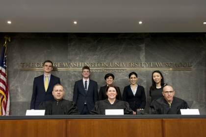 Students with judges