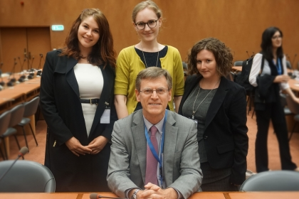 Fellows with Professor Sean Murphy at the International Law Commission.