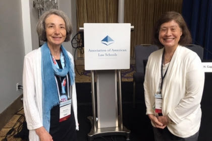 Professor Naomi R. Cahn and Cynthia Lee gather for a photo at AALS.