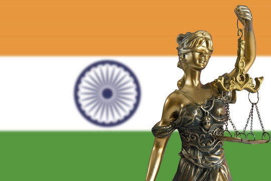 Justice with the Flag of India