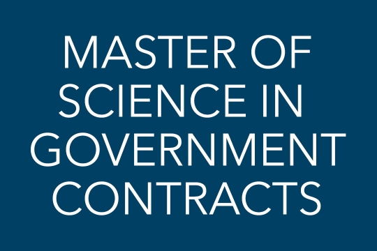 Master of Science in Government Contracts