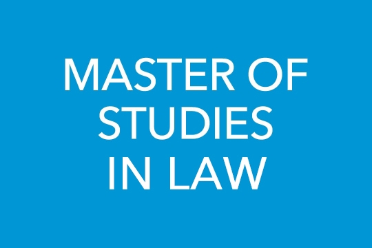 Master of Studies in Law