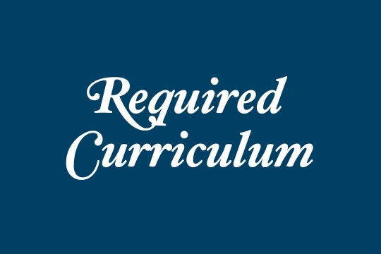 Required Curriculum