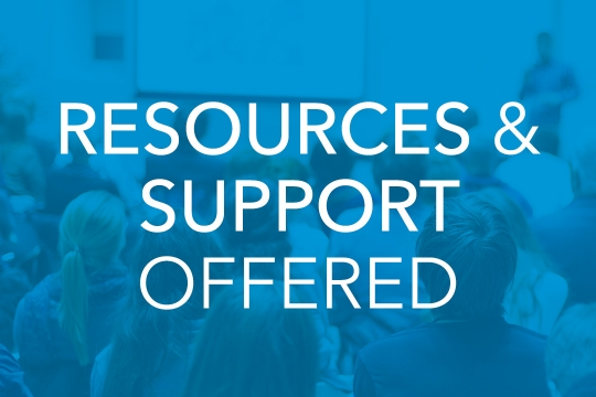 Resources and Support Offered